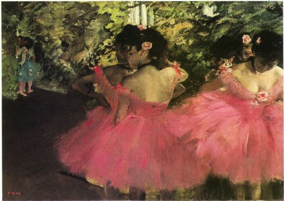 Degas, Edgar: Dancers in Pink. Fine Art Print/Poster. Sizes: A4/A3/A2/A1 (001563)
